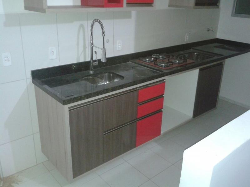 Armário Planejado Cozinha Pequena Vila Florinda - Armário Planejado Apartamento