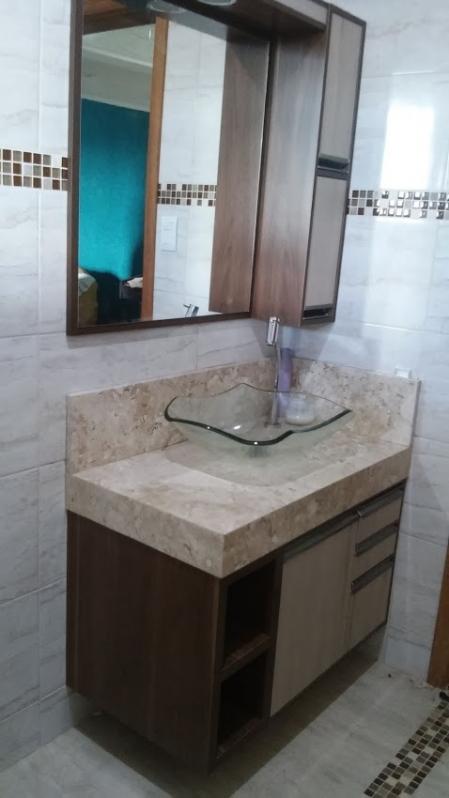 Armário Planejado para Banheiro Vila São João - Armário Planejado Apartamento