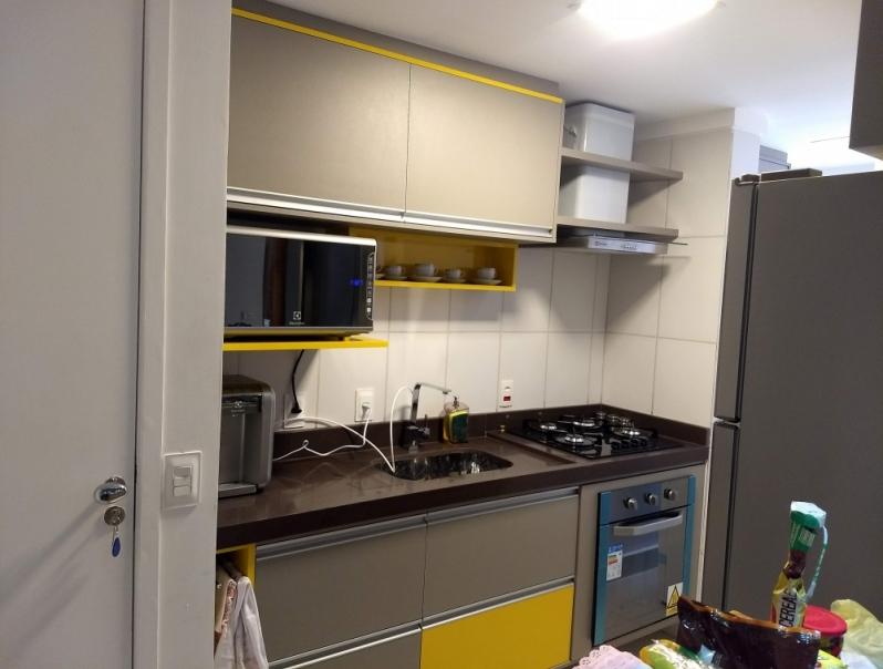 Armário Planejado para Cozinha Pequena Parque Ouro Fino - Armário Planejado Apartamento