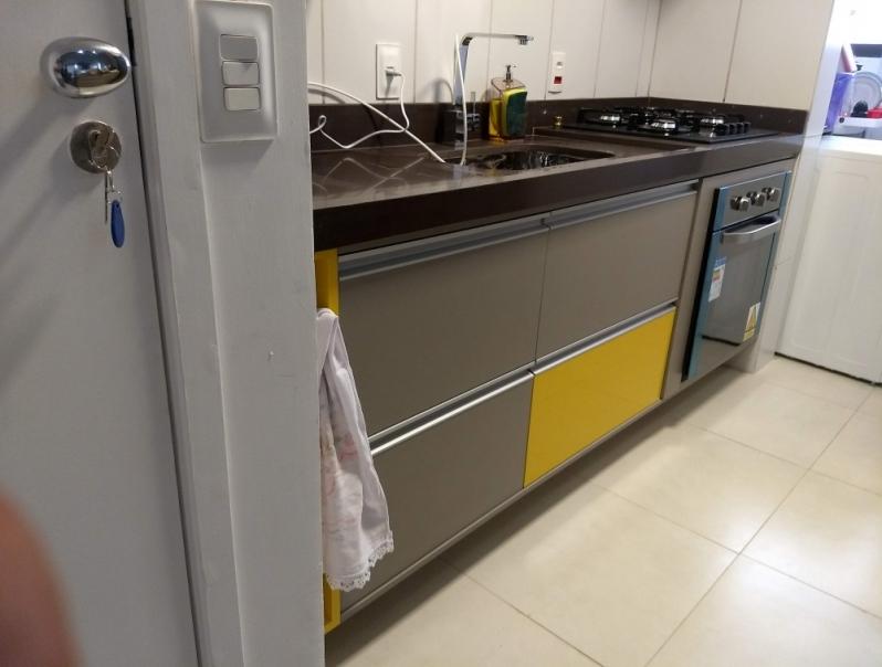 Cozinha Planejada Apartamento Preço Condomínio City Castelo - Cozinha Planejada com Ilha