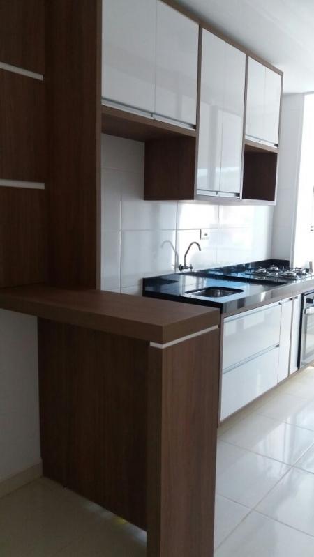 Cozinha Planejada com Ilha Tatuí - Cozinha Planejada Apartamento