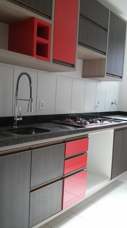 Cozinha Planejada de Apartamento Preço Jardim Califórnia - Cozinha Planejada com Ilha