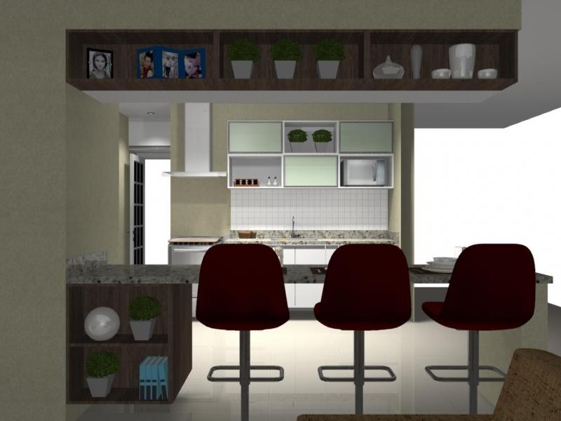 Cozinhas Planejadas Pequenas Além Ponte - Cozinha Planejada Branca