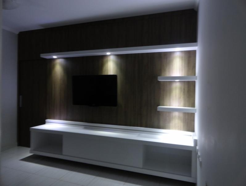 Home Theater Planejado Apartamento Valor Itirapina - Home Theater Planejado com Espelho