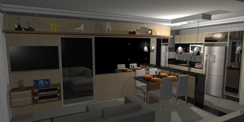 Onde Encontro Cozinha Planejada Apartamento Horto Florestal - Cozinha Planejada com Ilha