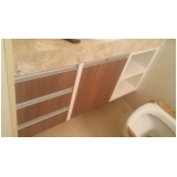 armário planejado para banheiro moderno preço Jardim Astro