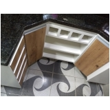 armário planejado para cozinha pequena preço Vila Jardini