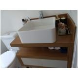 armários planejados para banheiro Vila Carvalho