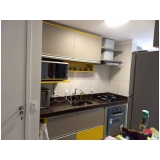 cozinha planejada de apartamento Jardim Americano