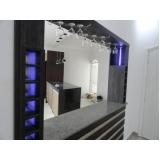 home theater planejado com cristaleira preço Jardim Saira