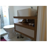 móveis planejados de banheiro valor Vila Leão