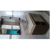 móveis planejados de banheiro Fazenda Bonanza